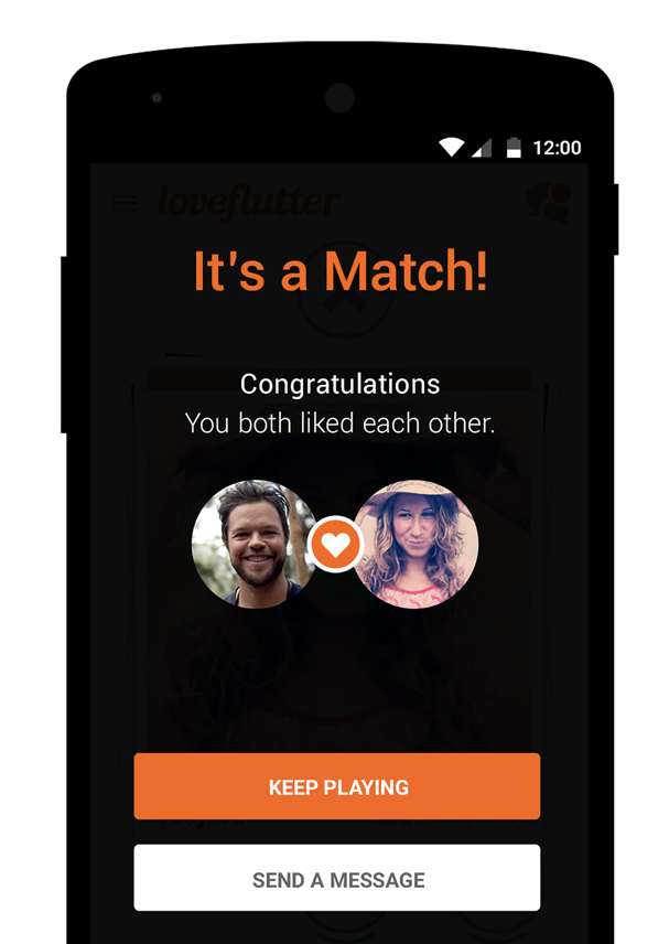 If the person you like, likes you too it's a match We connect you together in a message